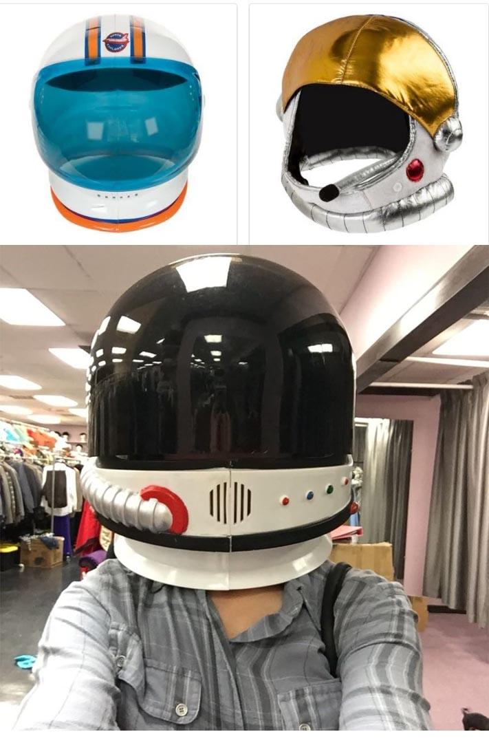 Cheapy-y astronaut helmets