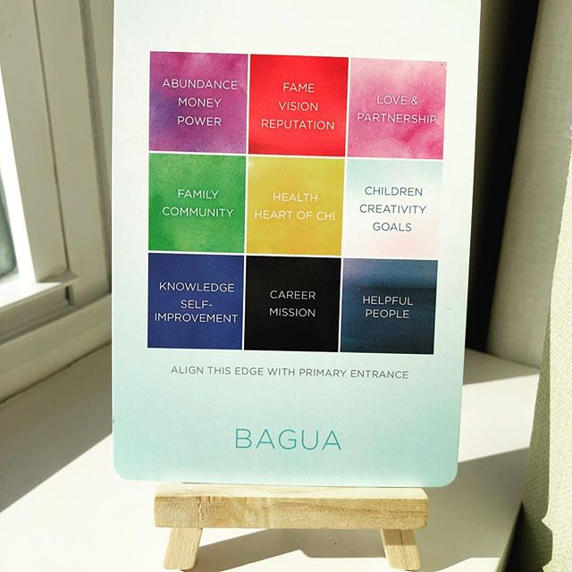 What area of your space/life needs attention today?  #bagua #spaceclearing #oraclecards #itsallinside