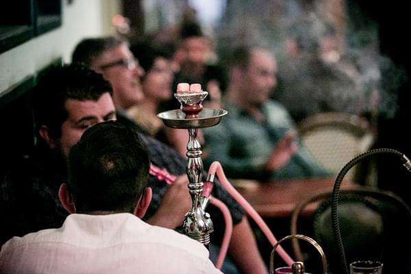 Outdoor Hookah - Enjoy shisha on our outdoor patio with a variety of flavors to choose from.