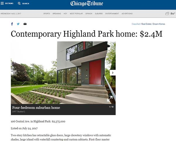106 CENTRAL AVENUE IS UP FOR SALE! - Our collaboration with Three Rabbits Design/Build is officially up for sale! Learn more about the project on our Projects page, the Realtor's website, or the Chicago Tribune listing (pictured above). posted on August 2, 2017 at 12:05pm