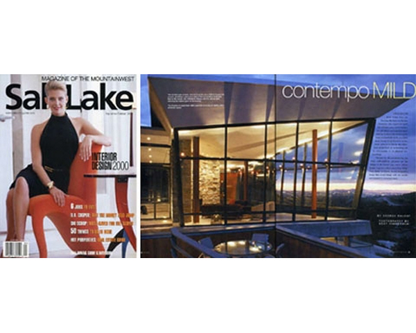 SALT LAKE MAGAZINE FEATURES THE CANYON HOUSE - The September / October 2000 issue, features the Canyon House. From material selections to the framing of views, the article emphasises how the design responds to the unique conditions of the landscape. posted on September 1, 2000 at 2:35pm