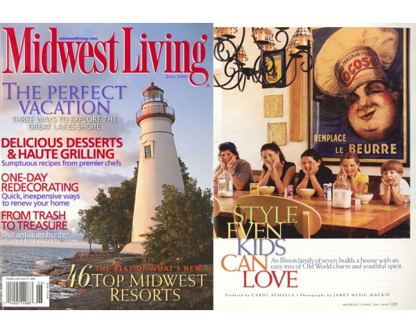 MIDWEST LIVING MAGAZINE FEATURES THE RURAL ESTATE - The June 2006 issue contains a multi-page feature on the Rural Estate. The project is described from the perspective of an active family of seven and how their intimate involvement in the design process resulted in a custom home that stands up to the challenges of everyday living. posted on June 1, 2006 at 3:41pm