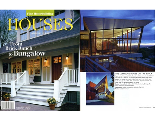 FINE HOMEBUILDING RECOGNIZES THE CANYON HOUSE - The 2005 Fine Homebuilding annual Houses issue recognizes the Canyon House. posted on April 18, 2007 at 2:11pm