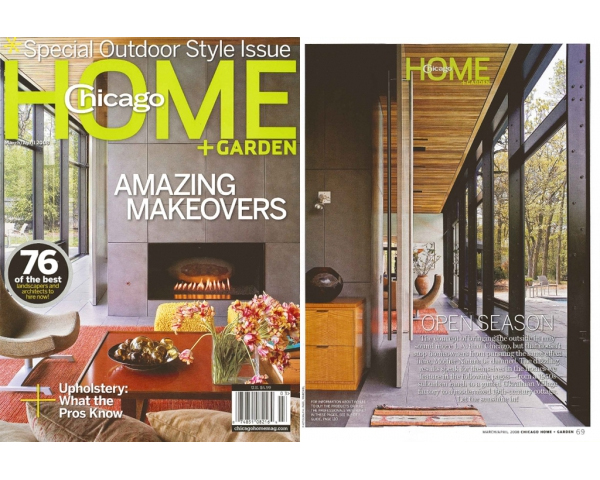 FIFTIES LOVE AFFAIR COVER STORY IN CHICAGO HOME + GARDEN - The March/April 2008 issue of Chicago Home + Garden features our Fifties Love Affair project. The article focuses on a collaborative effort between an owner and their design team to revamp an elegant mid-century modern home for contemporary living. Click here to read the article. posted on March 18, 2008 at 8:41am