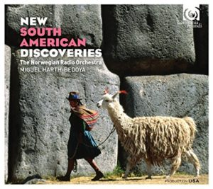 "New South American Discoveries - The Norwegian Radio OrchestraMiguel Harth-Bedoya, conductorJorge Villavicencio GROSSMAN: Wayra (2011)Victor AGUDELO: El Sombrerón (2009)Sebastián VERGARA: Mecánica (2005)Diego LUZURIAGA: Responsorio (2000)Diego VEGA: Música Música (2009)Sebastián ERRÁZURIZ: La Caravana (2003)Agustín FERNANDEZ: Una música escondida (2004)Antonio GERVASONI: Icarus (2003)Released November 18, 2016 by harmonia mundi usa""While most collections of orchestral music from South America cover the same repertoire (Revueltas's Sensemaya and Moncayo's Huapango being among the most ubiquitous inclusions), Miguel Harth-Bedoya's new disc offers fare that is rare, interesting, and absolutely up to date… No praise can be high enough for conductor Harth-Bedoya's care in balancing the various orchestral strands, while the warmly characterful playing of the Norwegian Radio Orchestra is an asset throughout…""—Phillip Scott, FanfarePurchase at iTunes and Amazon.com"
