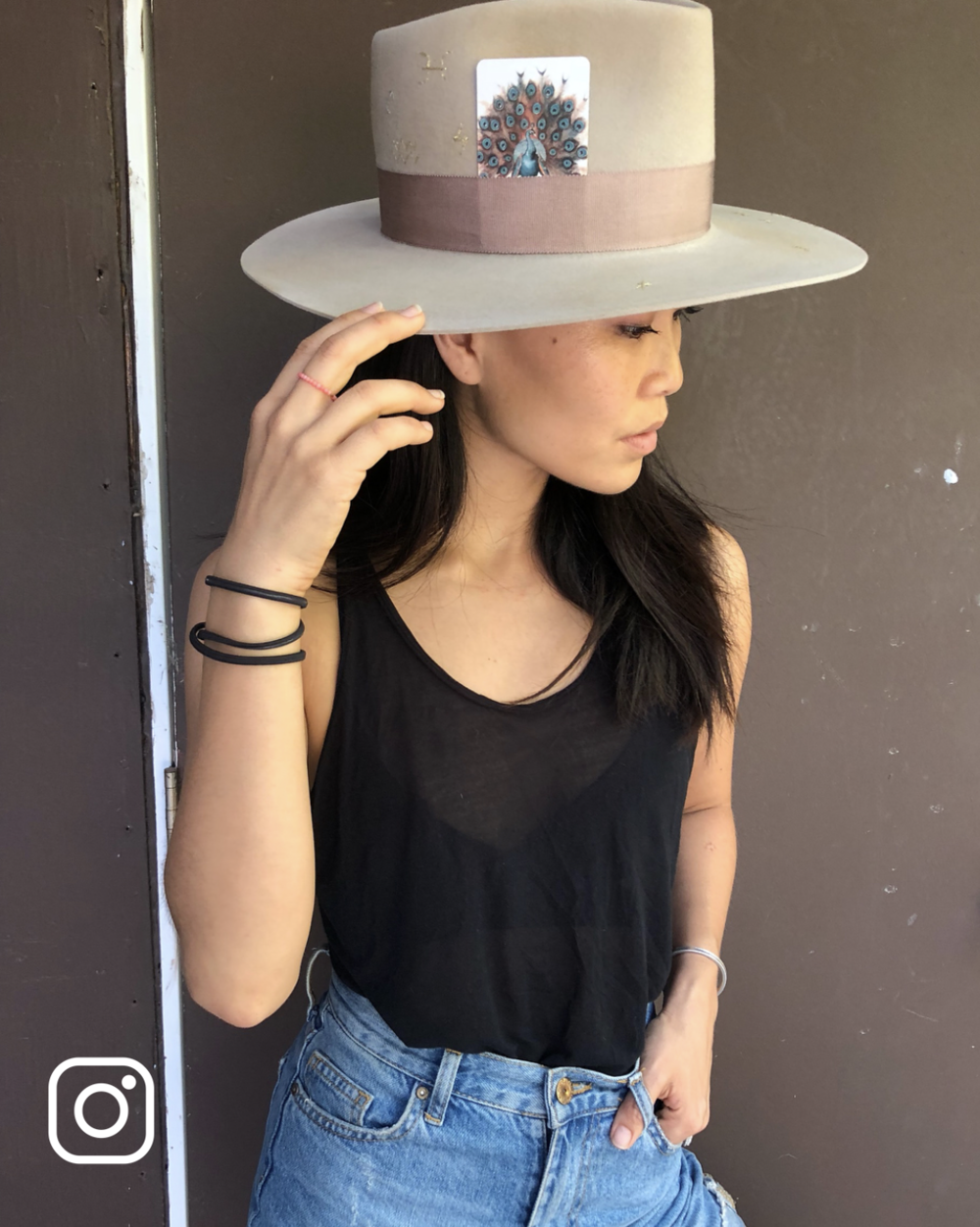 """""""Alberto Hernandez is the only hatmaker you need to know. Thank you for my custom hat  @meshikahats !⚡️⚡️⚡️⚡️ the details mean so much to me..."""" @thealiciahannah"""