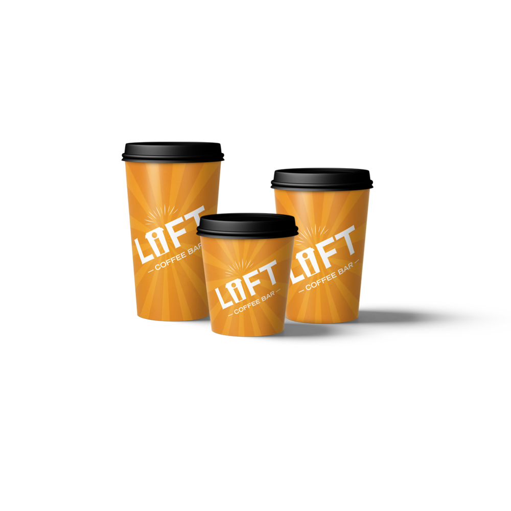 Lift Coffee Bar travel mugs