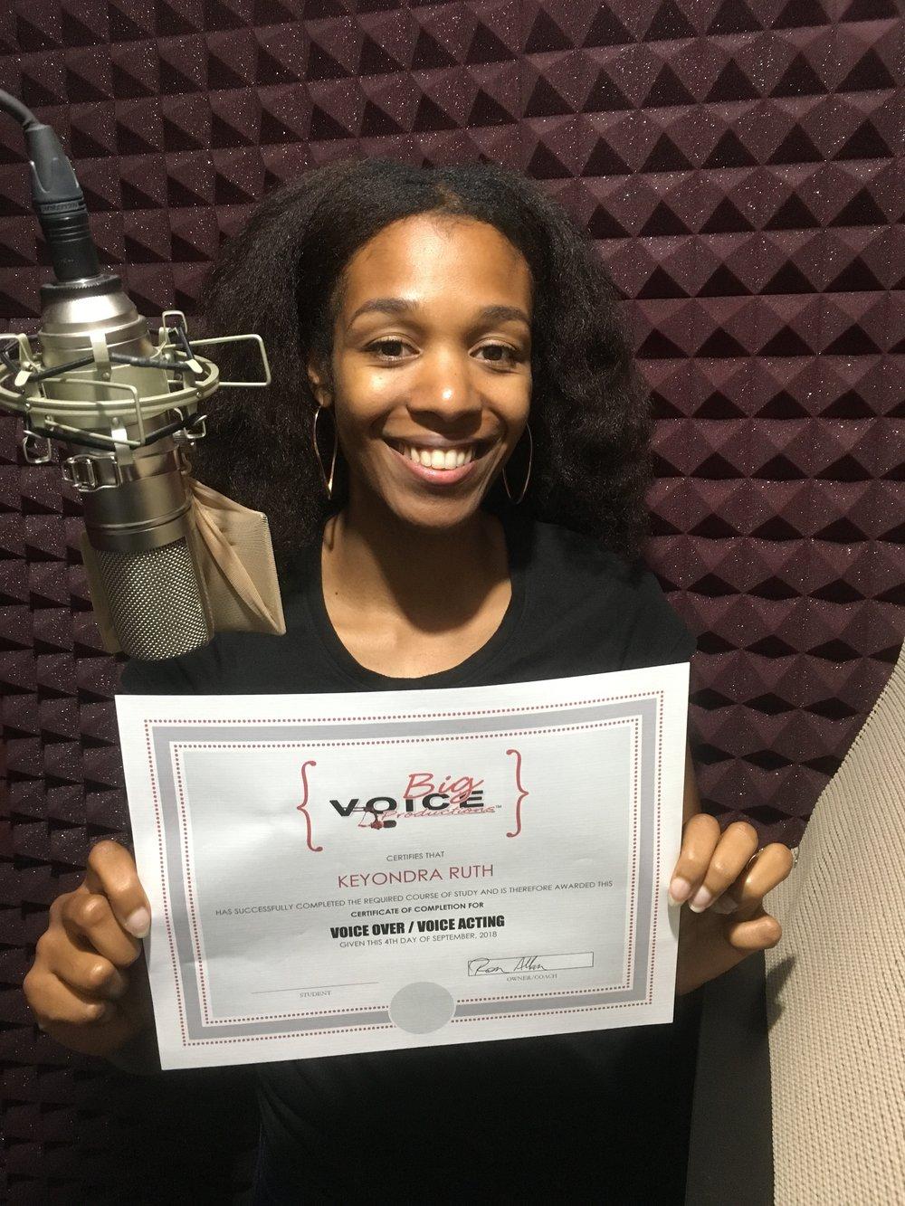 Keyondra Shanae, Recent Graduate Of Big Voice Productions