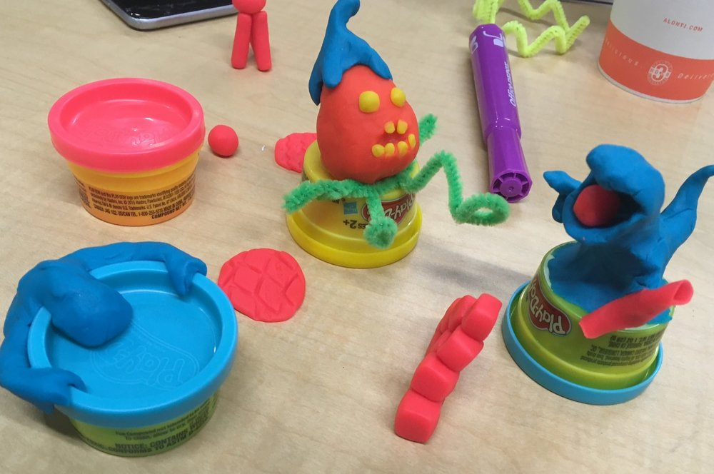 What can you add to enliven your presentation? Play-doh for the audience!  Why not? (I do it all the time.)   Photo courtesy of swallowstudios.