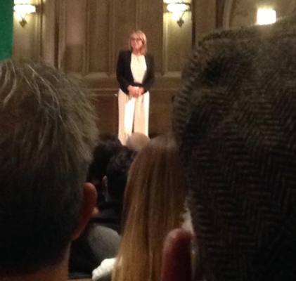 I abhor blurry photos, but I had to share. My view of Esther Perel at the Chicago Humanities Fest.