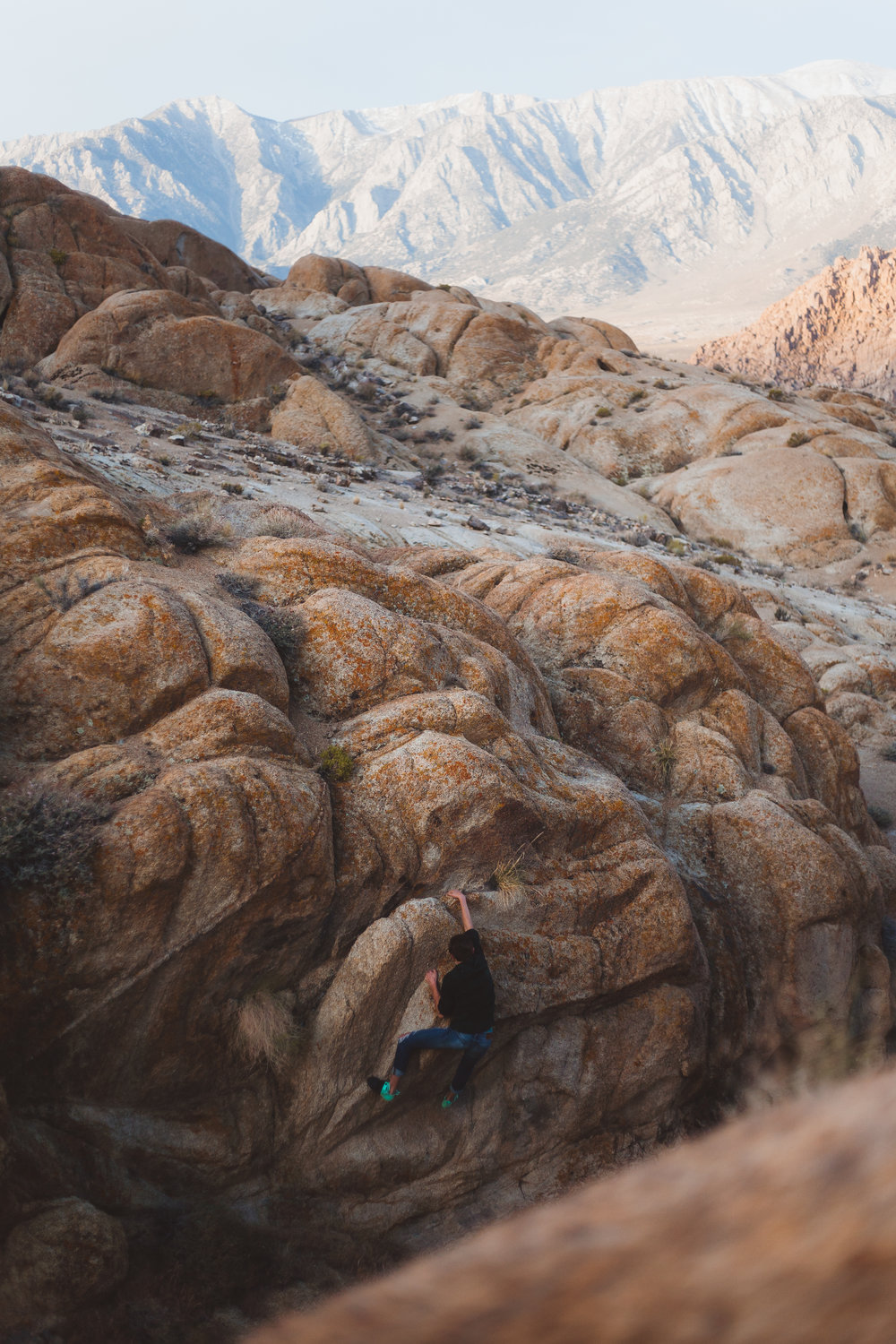 CLIMBING AT THE BASE OF WHITNEY