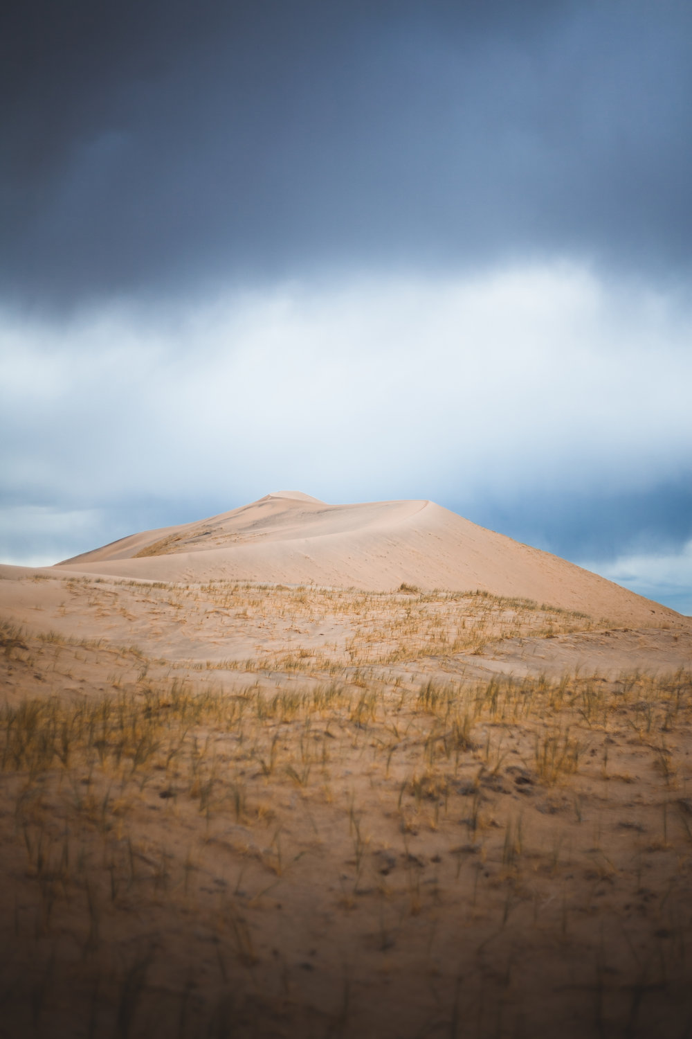 STORMY WEATHER CLIMBING UP KELSO DUNES