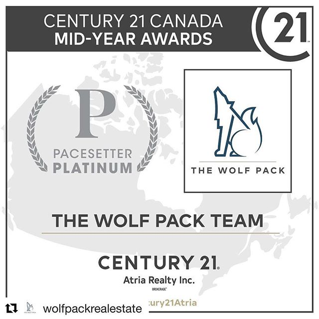#Repost @wolfpackrealestate with @get_repost ・・・ Century 21 mid year awards are in and The Team is continuing to leave their mark! Thank you to all of our clients for your continuous trust and support, let's finish this year strong 💪🏼 #realestate #wolfpack #century21 #realtors @c21atria