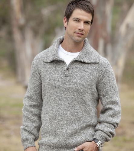 Men's Collar Sweater