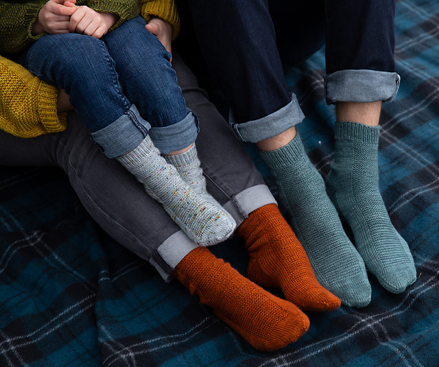 Rye Light Simple Socks