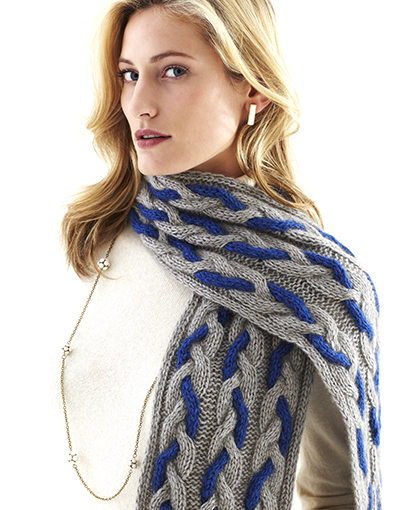Twisted Cable Scarf