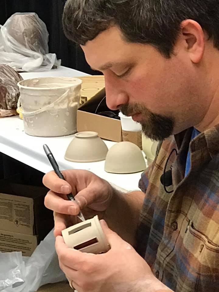 """Tim See as seen at Clay Con West is coming to Las Vegas April 6th & 7th - Tim will be at Basic High School ceramics studio in Henderson NV on the 6th & 7th of April 2019 for a two day demonstration/workshop. Tim will be showing tea pot design and other throwing techniques and constructions.There will be a meet and greet on Friday April 5,""""Art in the Dark"""" that everyone is invited to attend6 :30 PM at Basic High School ceramics studio"""