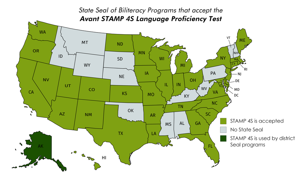 *note that the STAMP 4S test qualifies anyone, anywhere in the world for a Global Seal of Biliteracy