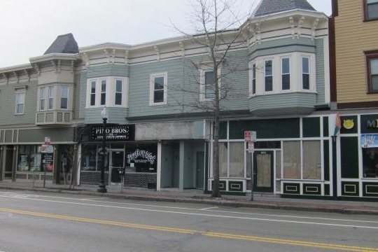 We are connecting the two adjacent store fronts (formerly a tattoo shop and a restaurant space)into one space. -
