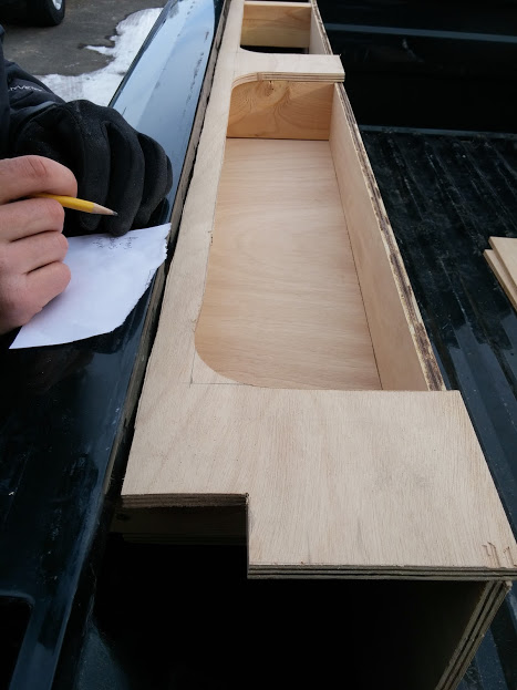 Hand saw cut out & plywood base