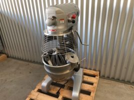 Promix 30 Litre Planetary Mixer – Used/Near New   $ 2,750.00 + GST   10 Amp – High Quality Planetary Mixer – Dough Hook, Cake Paddle, Wire Whisk  Dimensions : 575W x 570D x 1105H