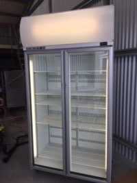 Skope TME1000 Ex Lease Chiller   $1,395.00 + GST    https://www.skope.com/products/general-display/tme1000-ac-2-glass-door-display-or-storage-fridge-lit-sign/   Ex Lease Skope 2 Door Chiller  Dimensions : 1130W x 700D x 2195H