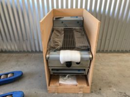 Waldorf Bench Top Char Grill – New   $2,000.00 + GST   Gas LPG or Nat Gas  Dimensions : 450W x 815D