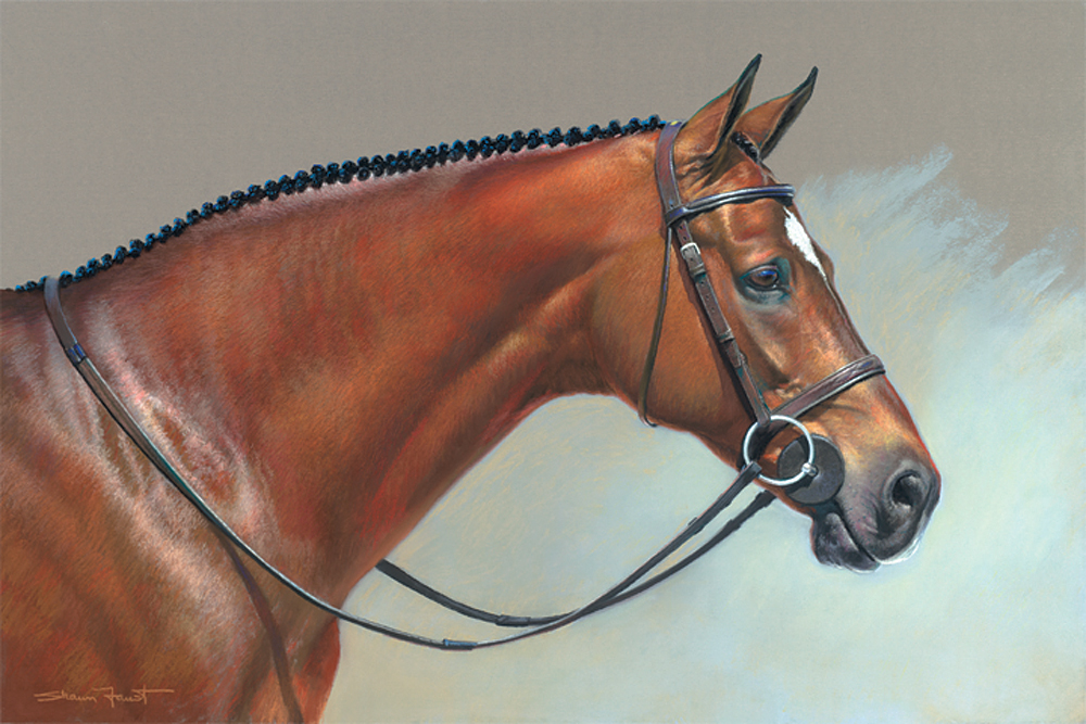 """Just For The Neck Of It   36""""x24"""" pastel"""