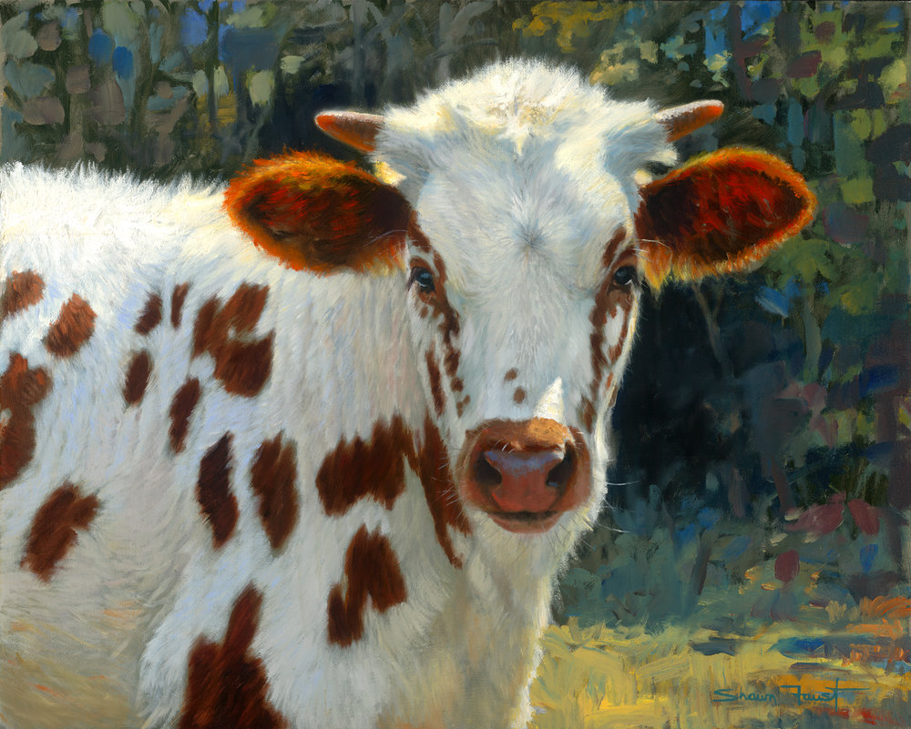"""Spotted  30""""x24"""" oil"""