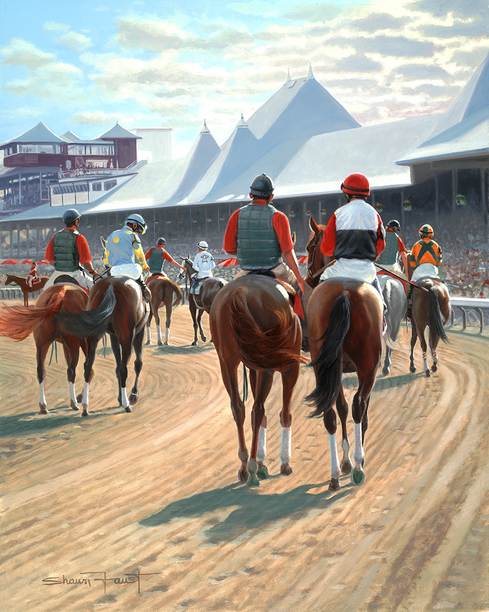 """Parade To The Gate  16""""x20"""" oil"""