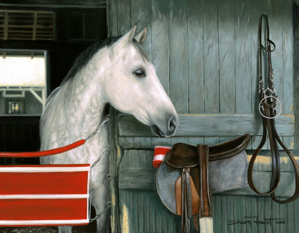 """Waiting For Tack   18""""x14"""" oil"""