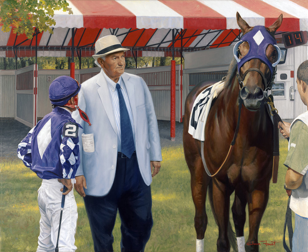 "Chief At Work  (Allen Jerkens) 40""x32"" oil"