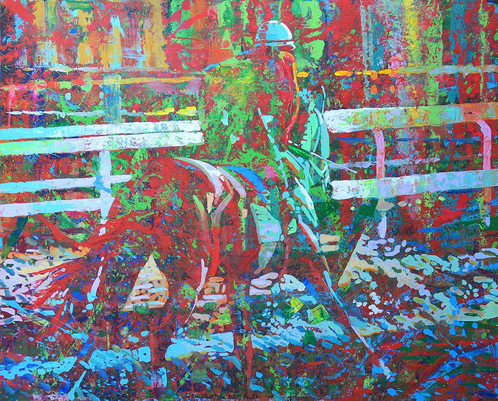"""Morning Energy   60""""x48"""" acrylic"""