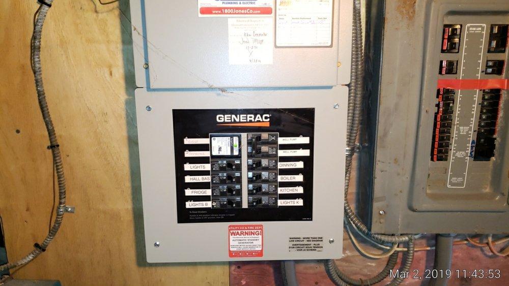 auto generator shutoffs next to main