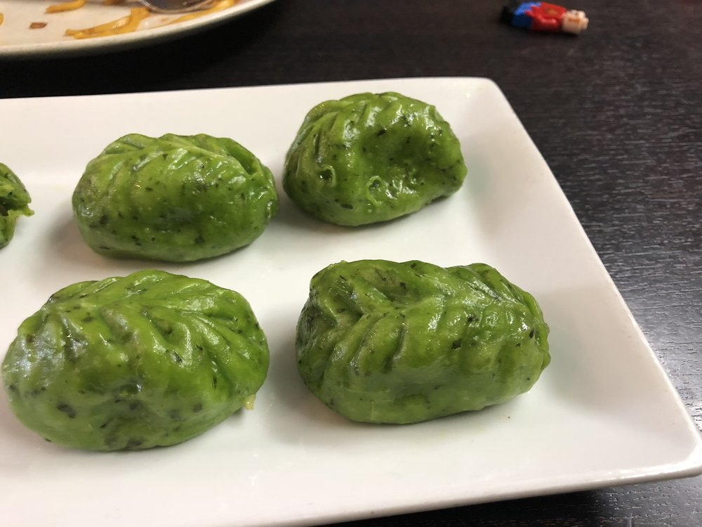 Vegetarian momo- a type of dumpling