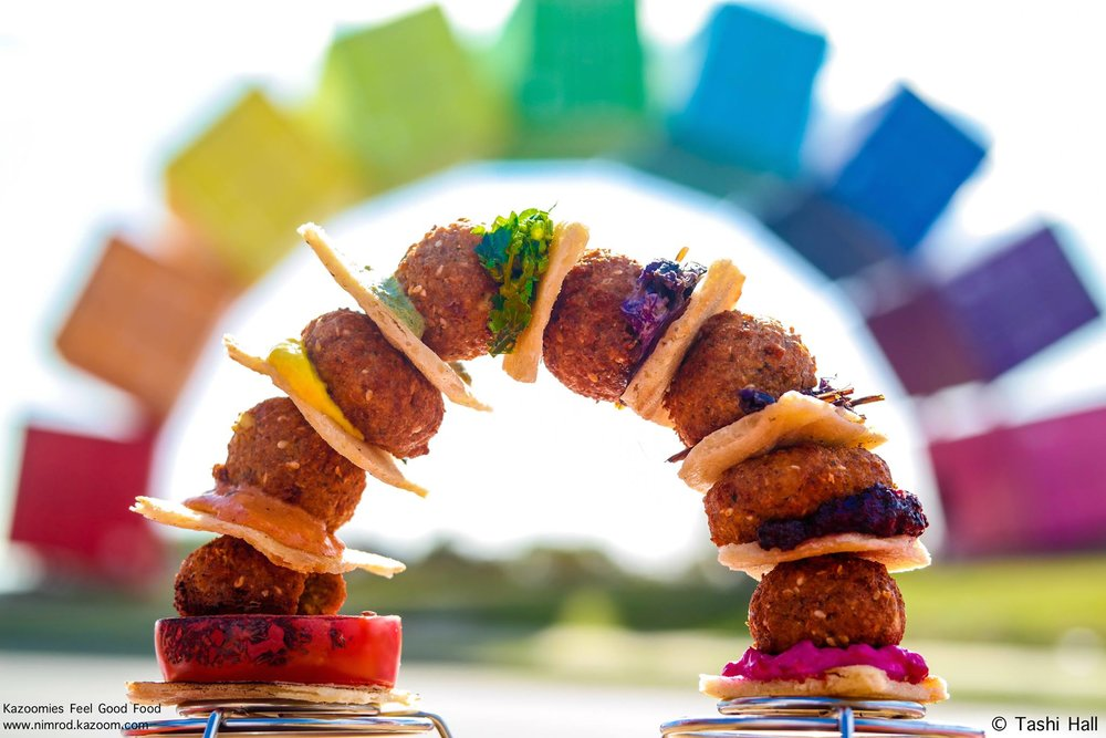 Nimrod's Falafel Rainbow. A culinary take on the iconic ''Contain-bow' at the entrance to Fremantle.