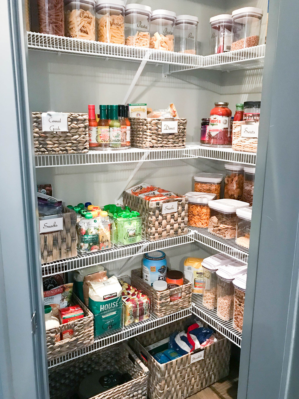 Jen's completely organized and styled pantry!