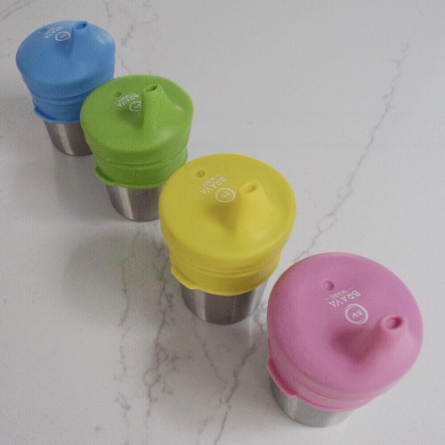 stainless and silicon kids sippy cups