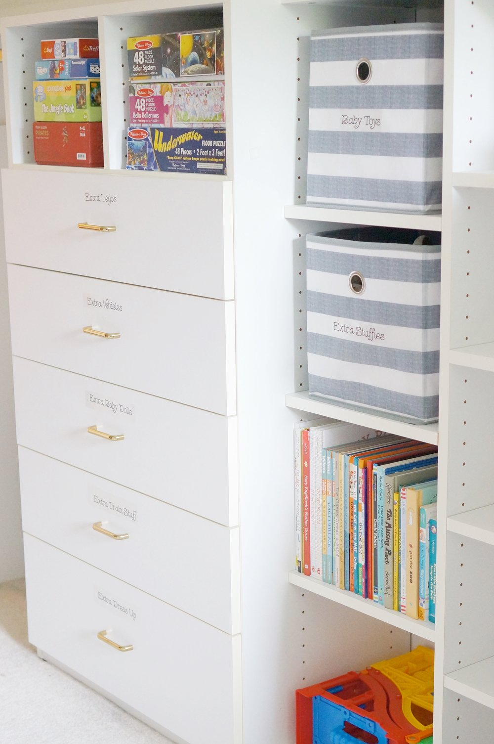 organizing kids toys and games
