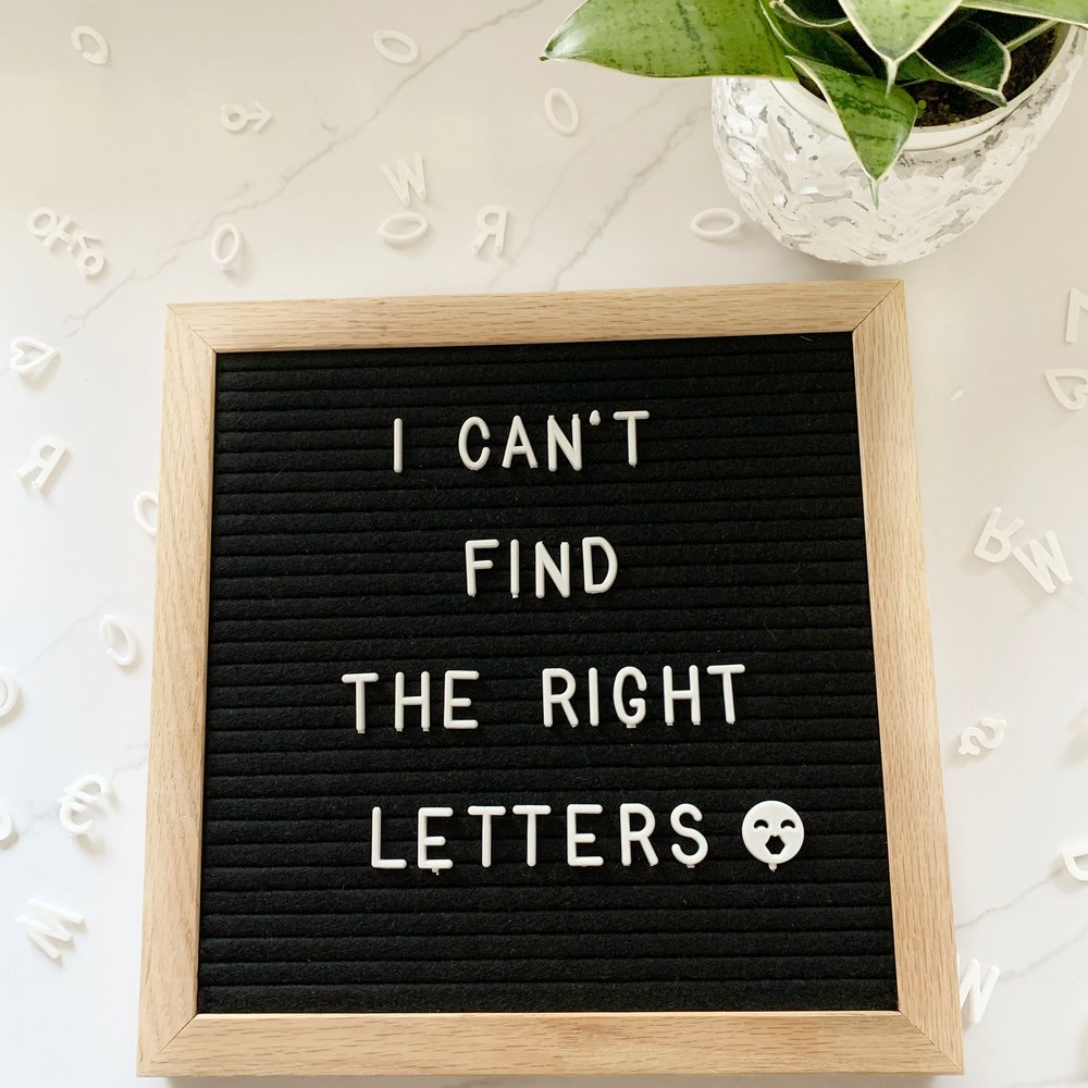 letter board letter organizing