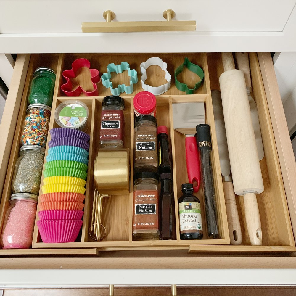 organized baking drawer