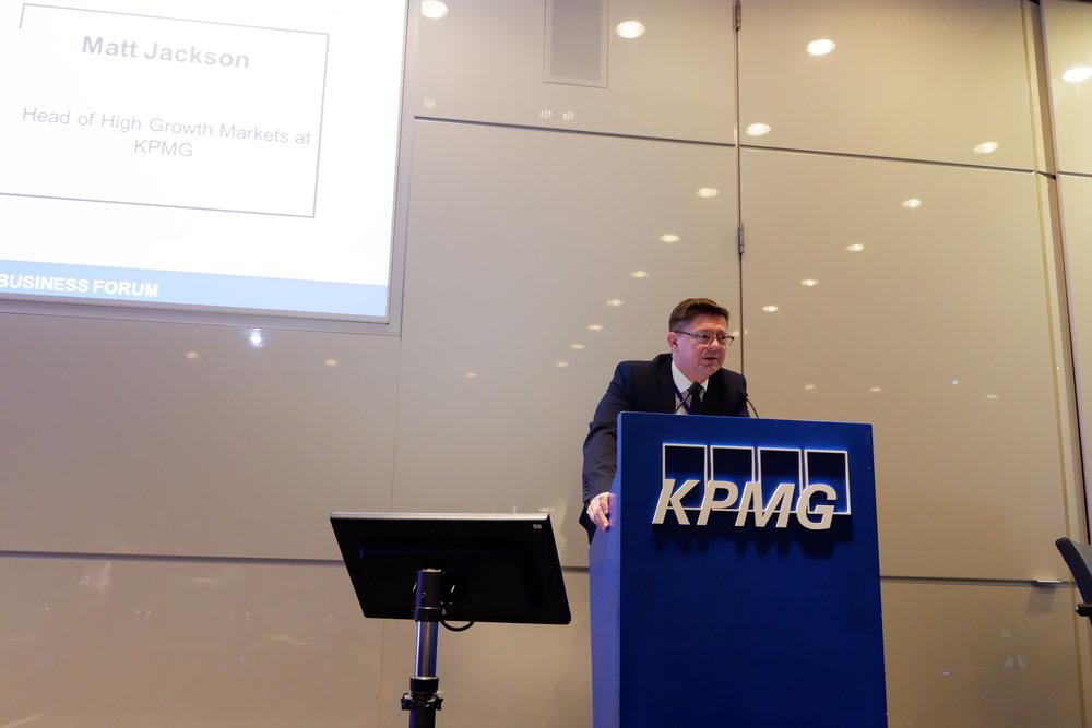 Matt Jackson    -Head of High Growth Markets at KPMG