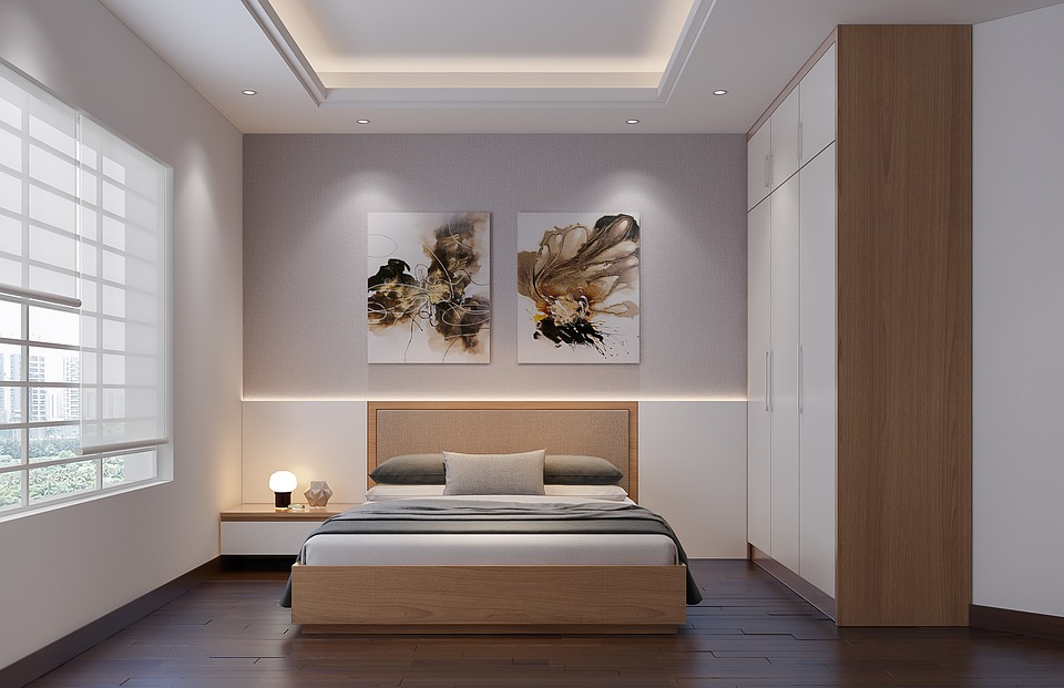 Photo: Contemporary bedroom, from  https://www.maxpixel.net/Indoors-Contemporary-Room-Window-Furniture-3058658