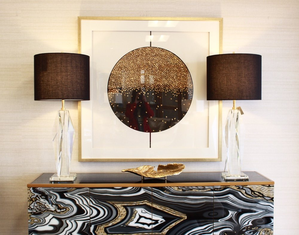 Photo: The gold metallic accents in this vignette would work well in a Bohemian interior. Photo by Michaela Satterfield.