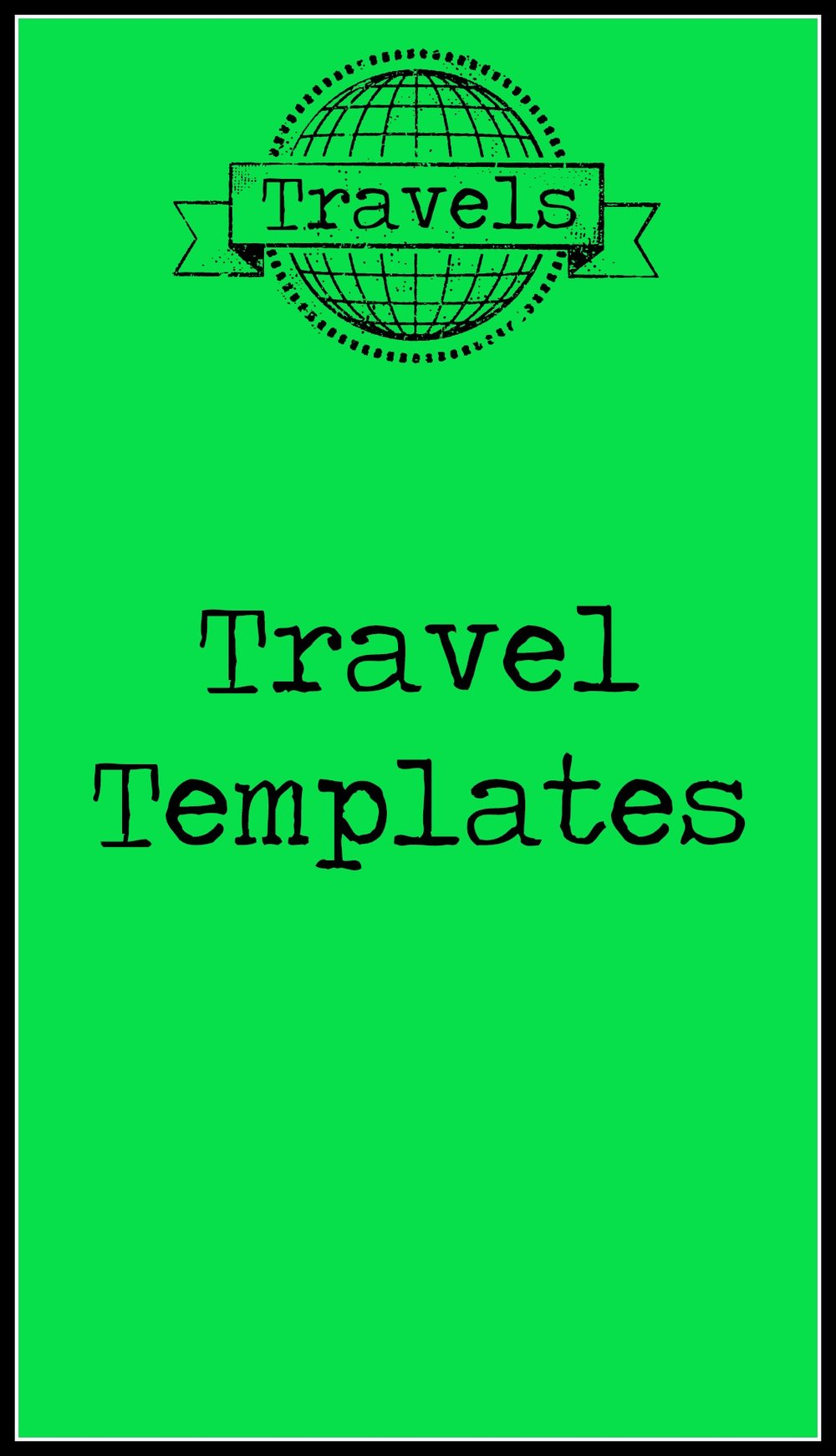 Travel Templates Cover