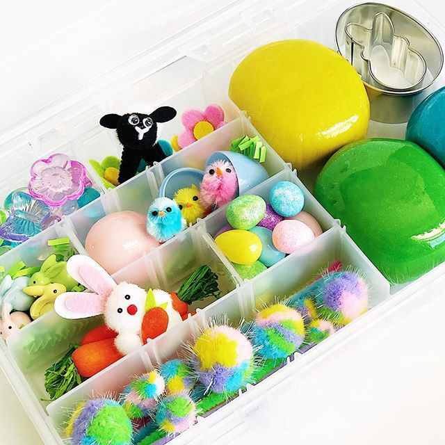 Easter Tackle Boxes have arrived just in time to ring in Spring! 🐣 . . Each box is festively filled with three scented sensory doughs, sweet new animal friends, and lots of loose parts for hours of open-ended creative play. These durable boxes are perfect for toting on Spring Break travels, entertaining kiddos at grandma's house, or helping the Easter🐰 Bunny fill those baskets! . . On sale Wednesday at 7.30pm CST! (Hint— Sign up for the mailing list by tomorrow for special pre-sale information!) . . #prairietaletravels #playislearning #adventureswithkids #childhoodunplugged #motherhoodunplugged #thewomoms #magicofchildhood #kidscreate #letthembekids #motherhoodsimplified #travelhacks #giftsforkids #travelbox #busybox #tacklebox #sensoryplay #sensorydough #tipsfortrips #homemadeplaydough #playdohkit #playdoughkit #playdoughfun #playfullearning #letthemplay #creativeplay #openendedplay #easterbaskets #eastercrafts #easter2019