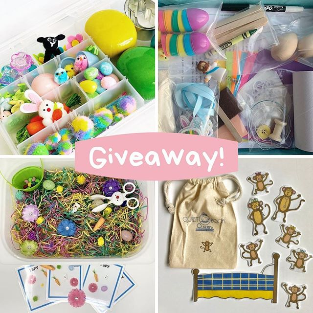 ✨GIVEAWAY!✨ . . One last Easter Tackle Box is up for grabs along with some AMAZING screen-free activities! Talk about an easy Easter Basket!😉 . . Prize: A play dough kit + a learning activity/craft kit + a sensory bin + a felt story set = so much learning through play!  And these could all be yours!  Enter to win by: 1.Following each of the shops below @prairietaletravels @raisingalegacy @sunshinesensory .  @quietbookqueen  2. Comment (just this post is necessary) with whether you prefer plastic eggs or dyed eggs. . . Entries close on Thursday, April 11 at 8:00 PM PST.  This giveaway is in no way endorsed or sponsored by Instagram.  Must be 18 years old and live in the U.S. . . #prairietaletravels #playislearning #adventureswithkids #childhoodunplugged #motherhoodunplugged #thewomoms #magicofchildhood #kidscreate #letthembekids #motherhoodsimplified #travelhacks #giftsforkids #travelbox #busybox #tacklebox #sensoryplay #sensorydough #tipsfortrips #homemadeplaydough #playdohkit #playdoughkit #playdoughfun #playfullearning #letthemplay #creativeplay #openendedplay #easterbasket #easter2019