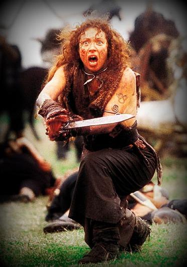 Alex Kingston as Boudicca in Warrior Queen