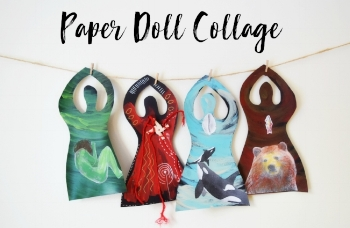 Paper Doll Collages allow you to record your unique insights and meaning of the particular festival or explore an aspect of a particular Ancestral Mother