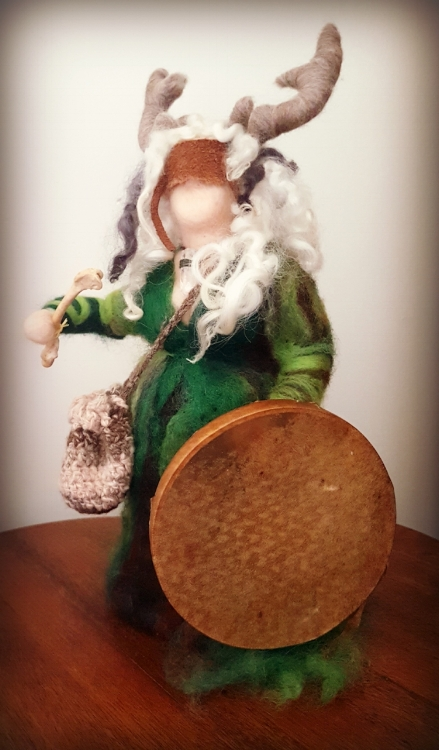 'The old woman who calls the deer' doll by Louise